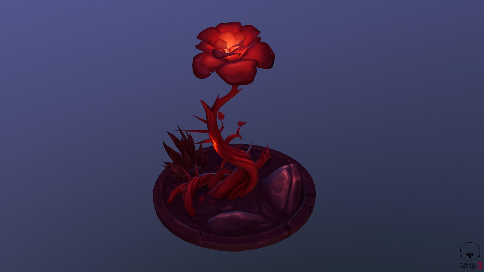 Lisa lenz red flower