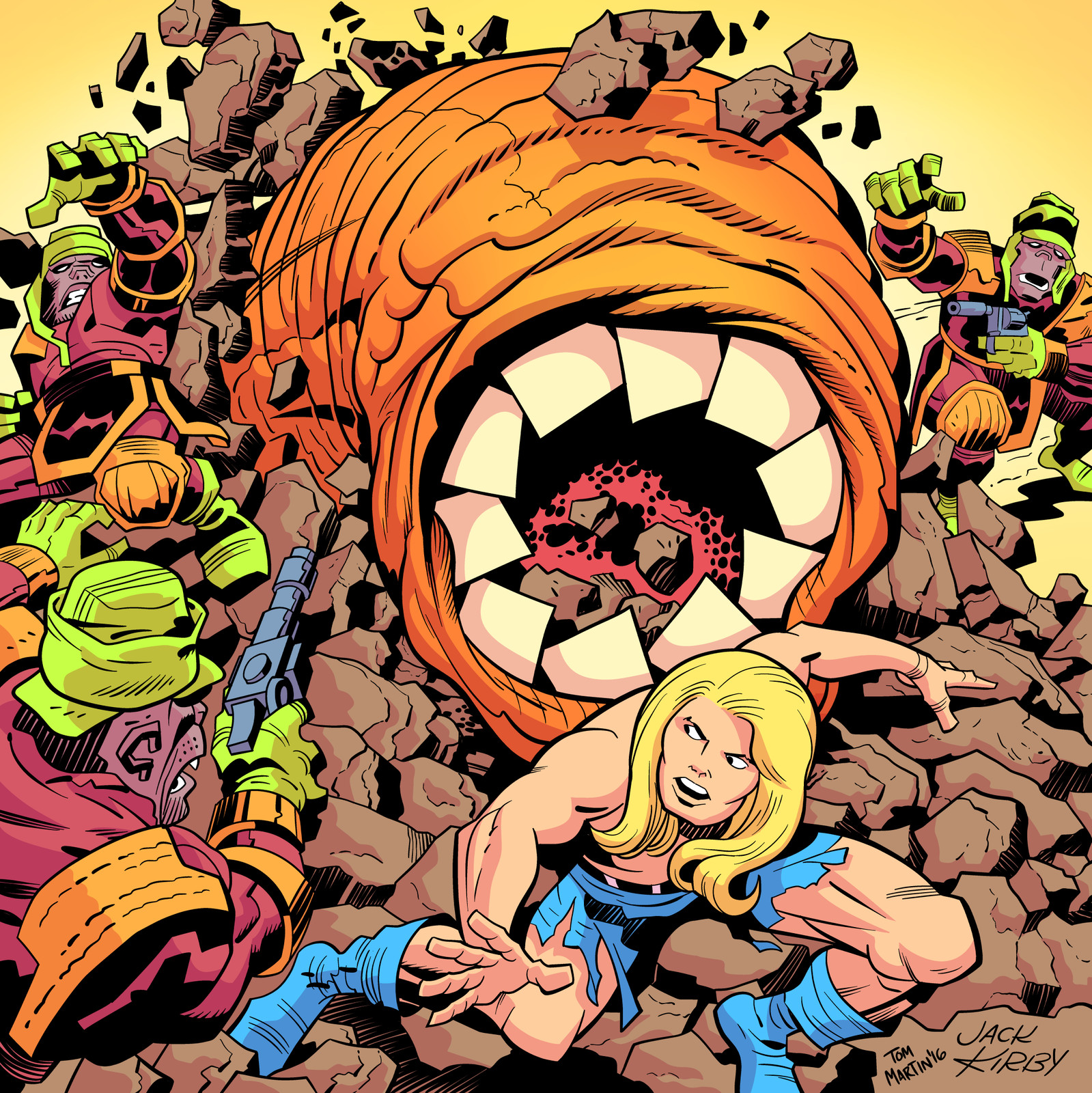 Inking & coloring Jack Kirby