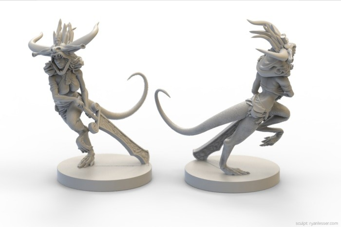 Unfortunately we had to adapt the design for costs reasons. So here is the two-legged version. I like it very much ! Sculpt by Ryan Lesser