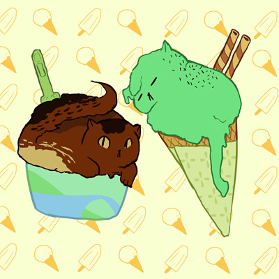 Laura gherghel ice cream cats