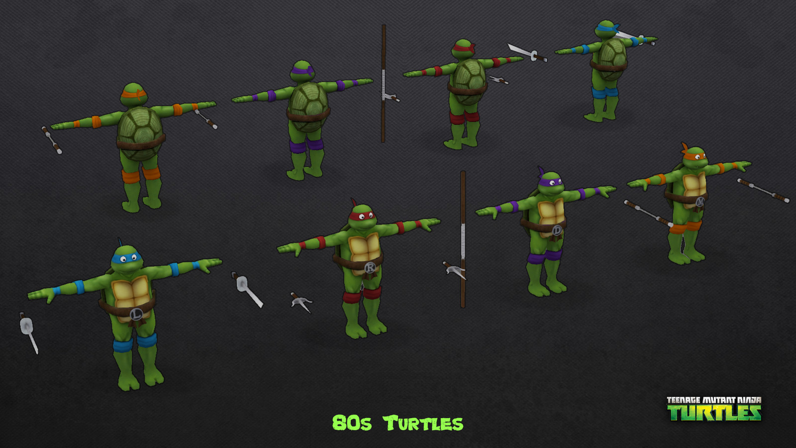 80s Turtles, all 4 of them