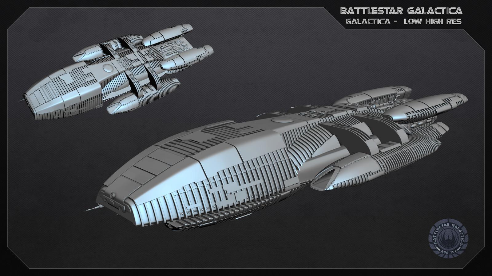 Battlestar Class Galactica High rez
