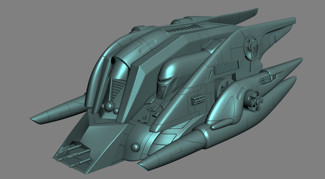 Kerberos Heavy Cylon Ship High Rez