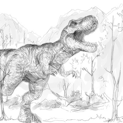 Chris scalf trex artsketch