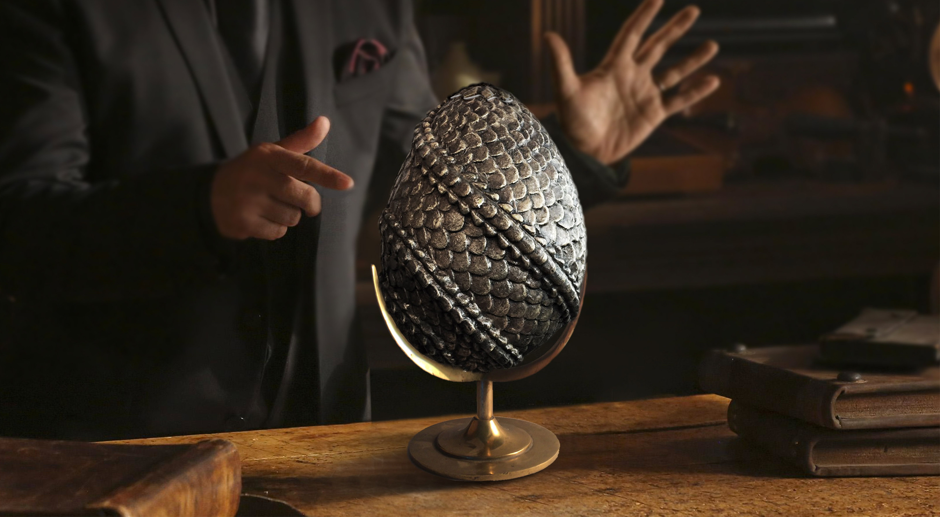 Pewter Dragon Egg