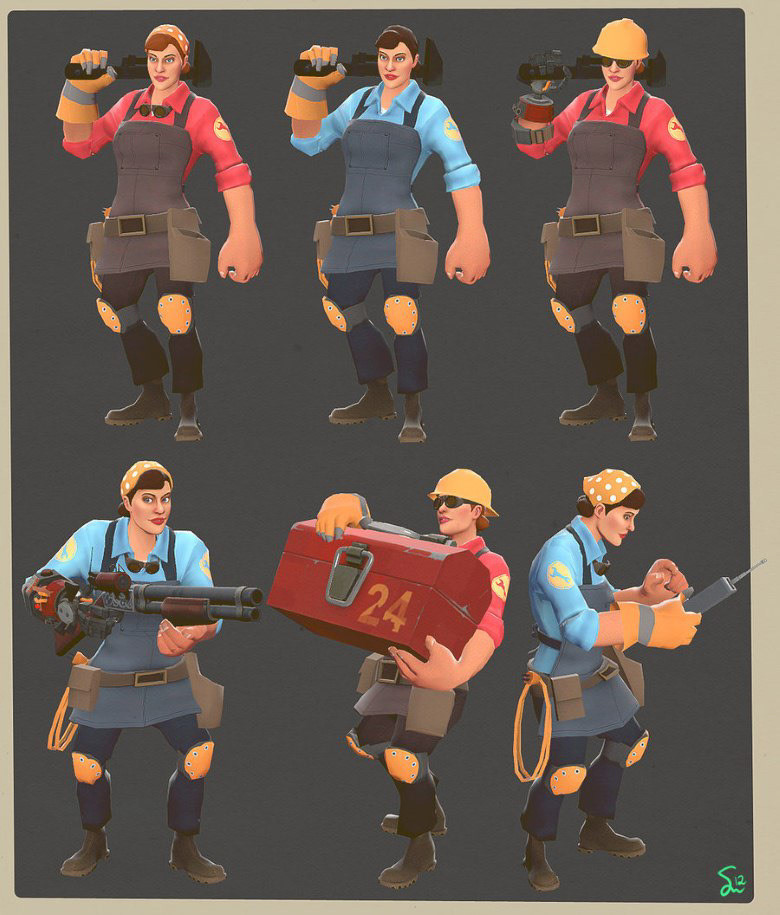Artstation Team Fortress 2 Female Engineer Shaylyn Alia Hamm