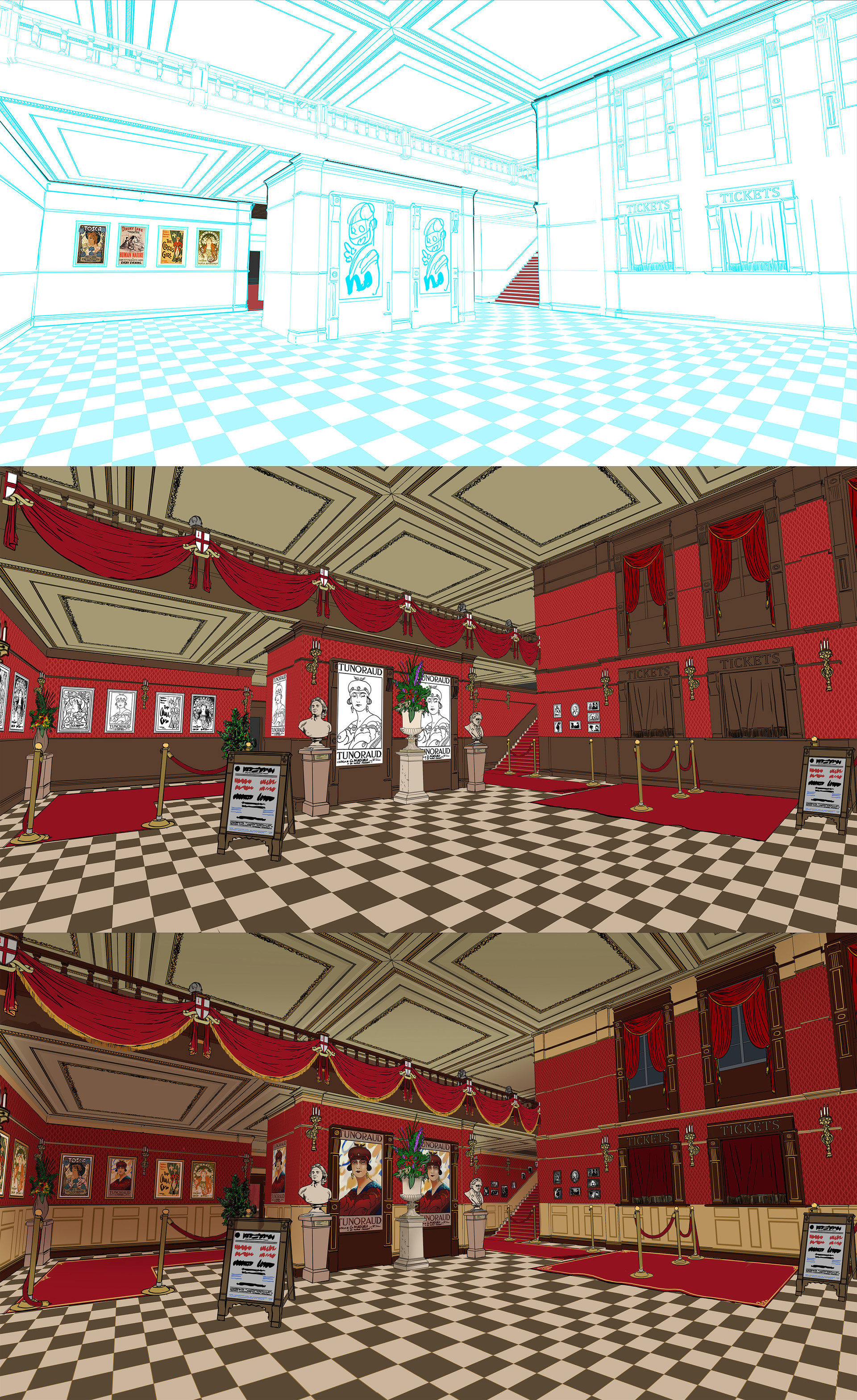 Gary jamroz palma entrance hall theatre line wip