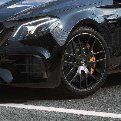 Mercedes E63 AMG - Corona renderer