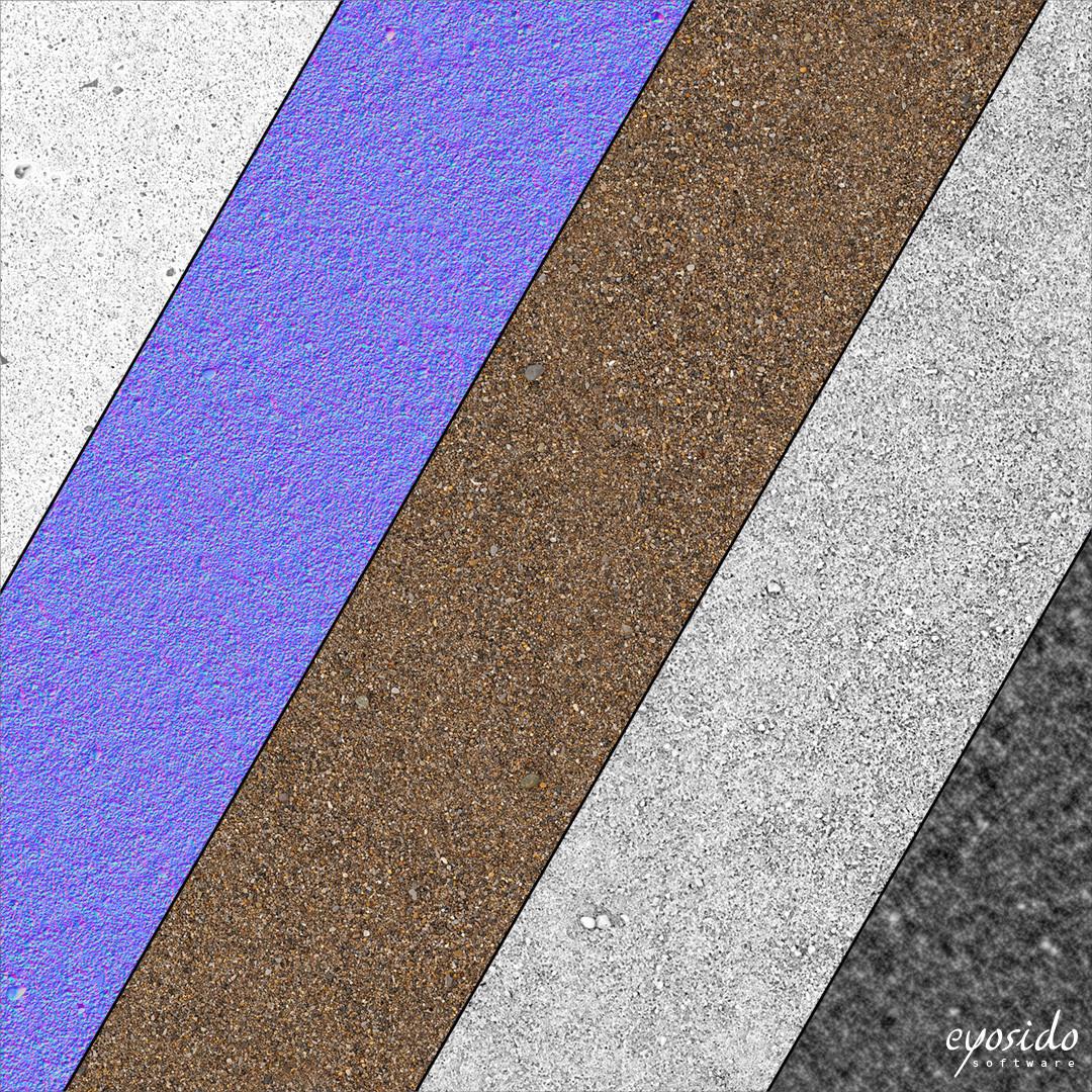 Dark sand, gross, PBR textures