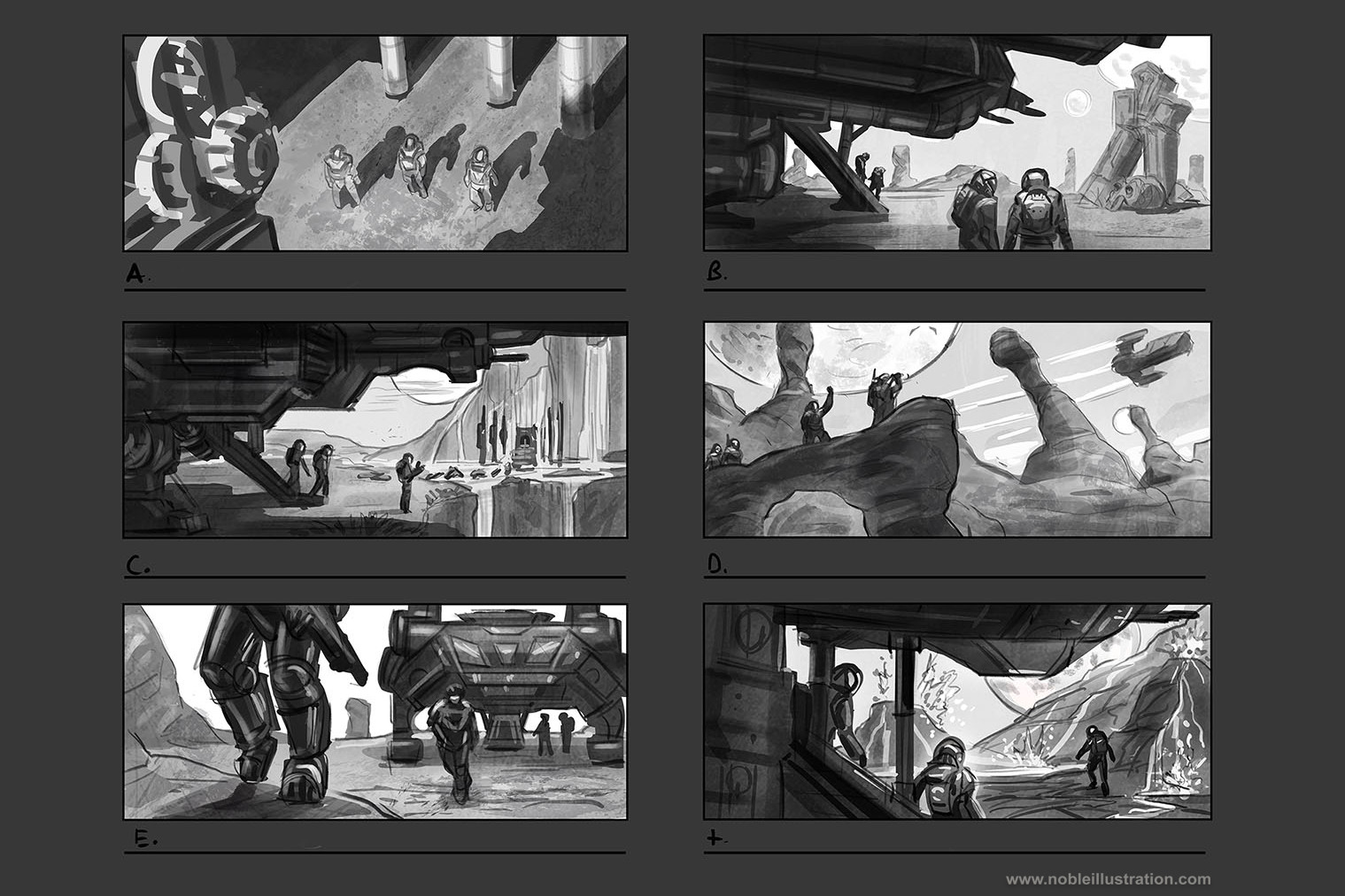 Stephen noble env sketches
