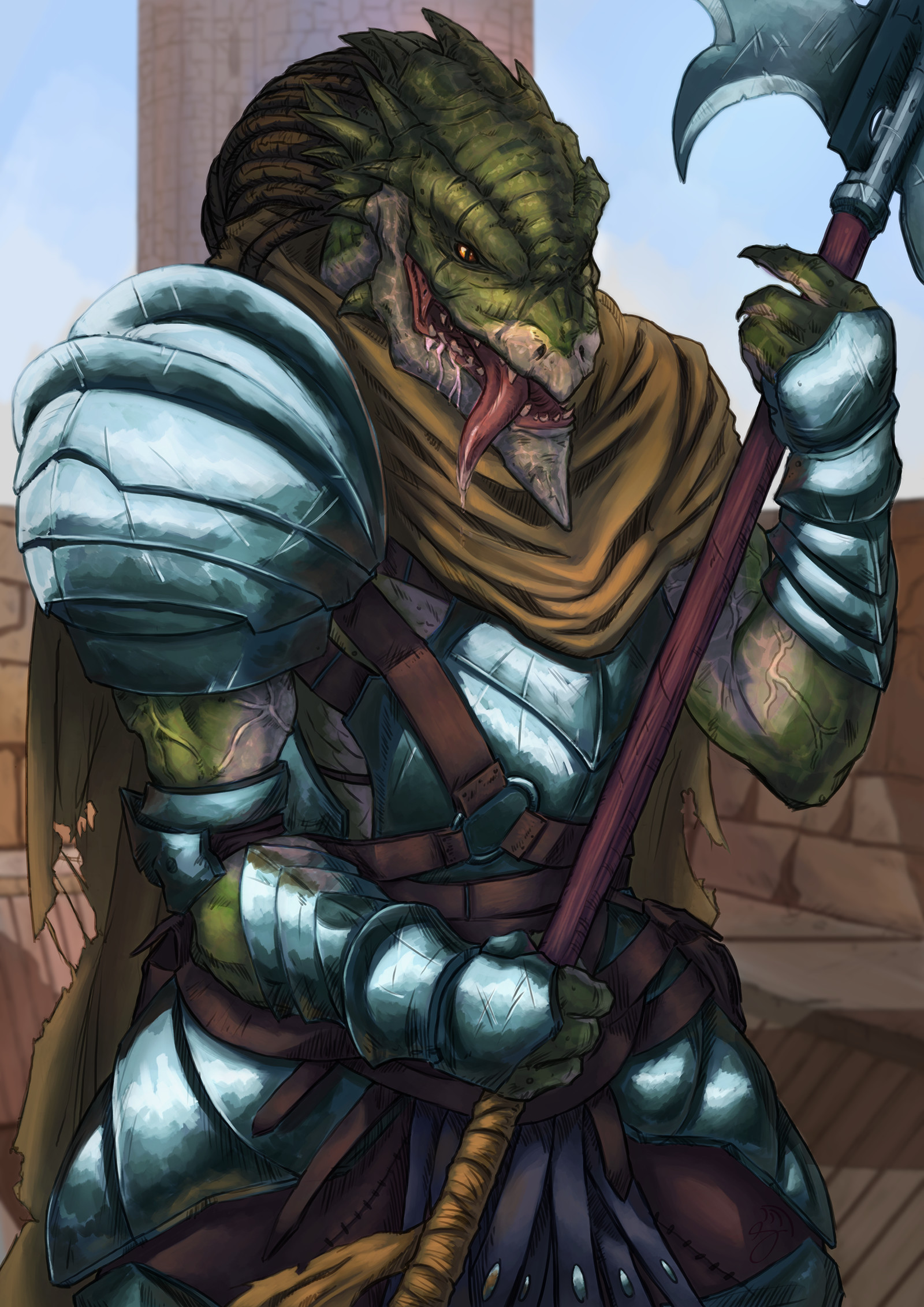 ArtStation - Dragonborn Fighter, Ted Thilander