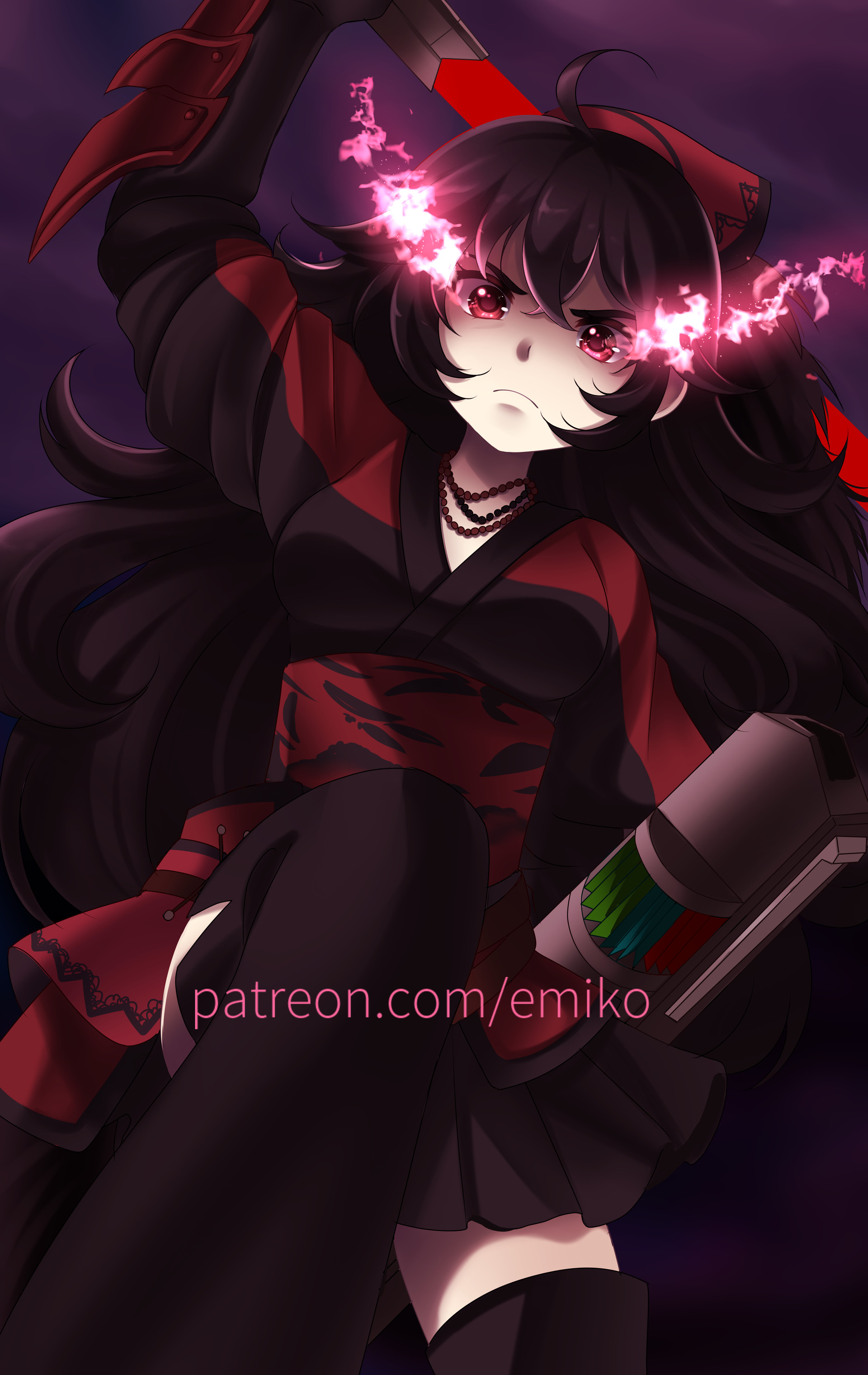 Emiko Ksparkart Raven Branwen Don't get her wrong, she hated when people died, especially when they were ones she held attachment to. emiko ksparkart raven branwen