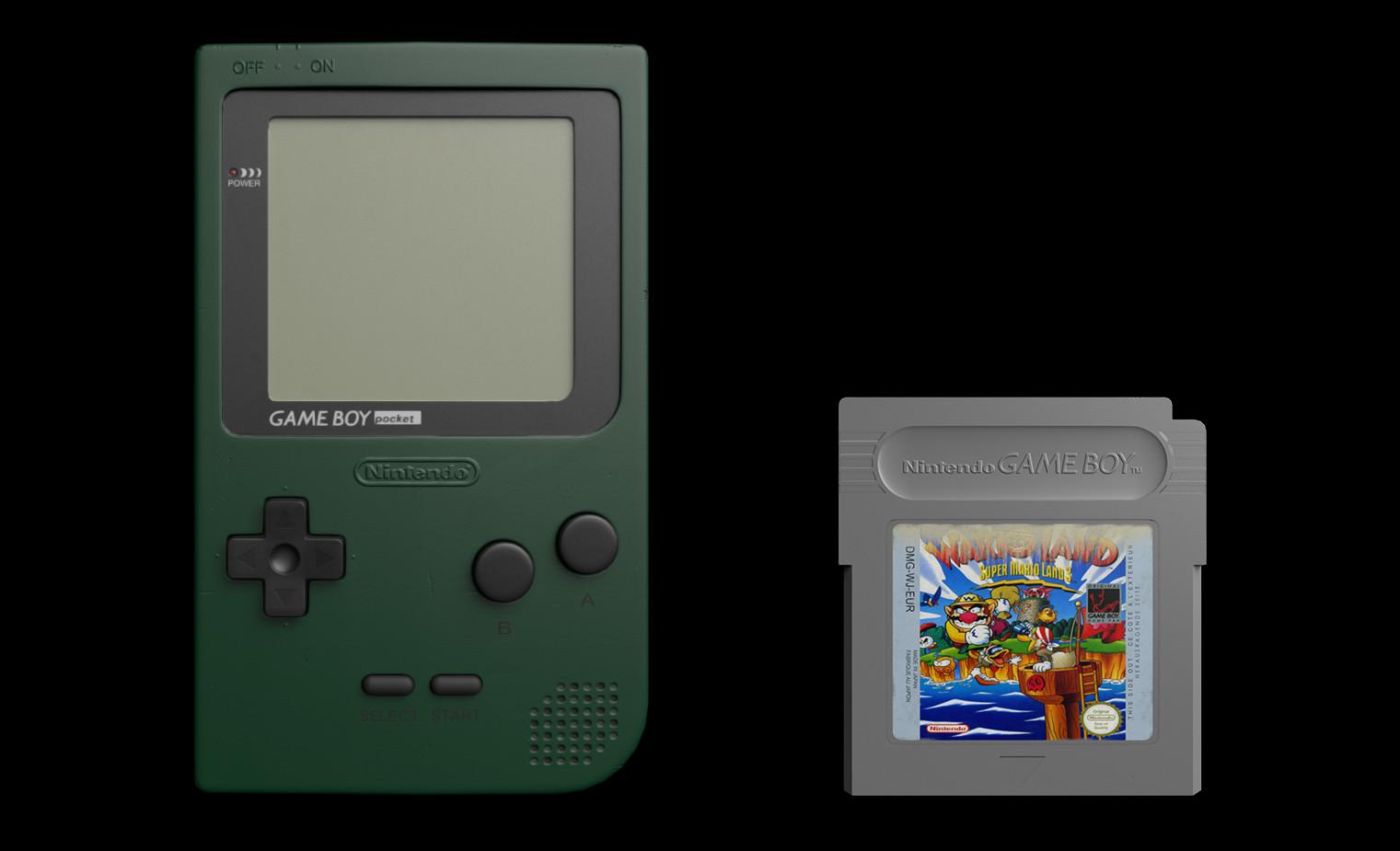 ArtStation - Render (Game-Ready) _ GameBoy-Pocket + Cartridge