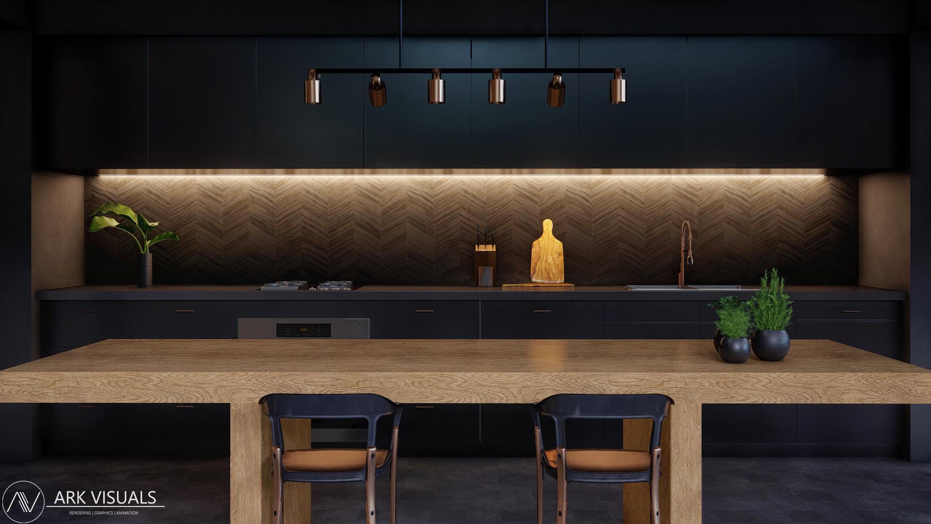 Artstation Modern Contemporary Home Luxury Residential Kitchen Dining Room Adam Ingram