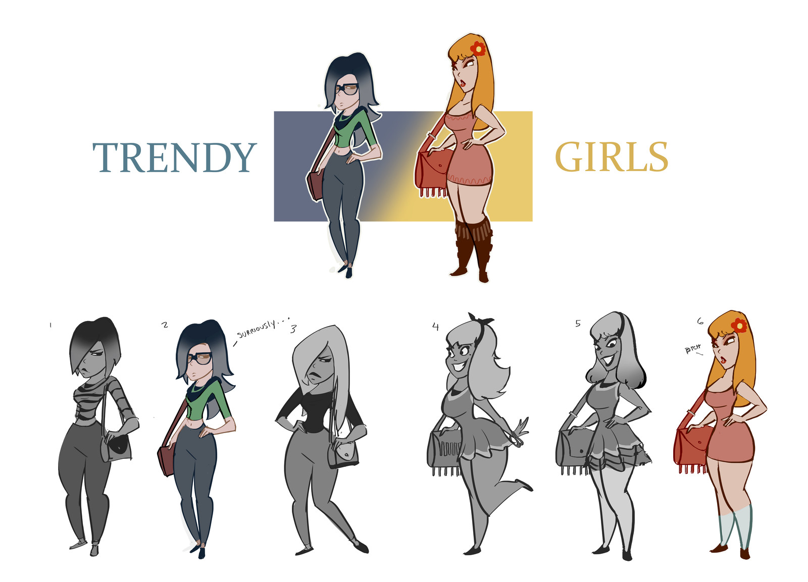 trendy girls