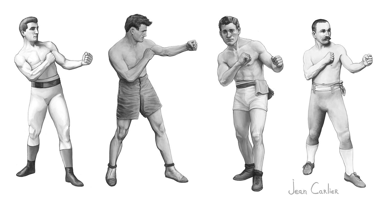 Jean Carlier - Old school boxers study