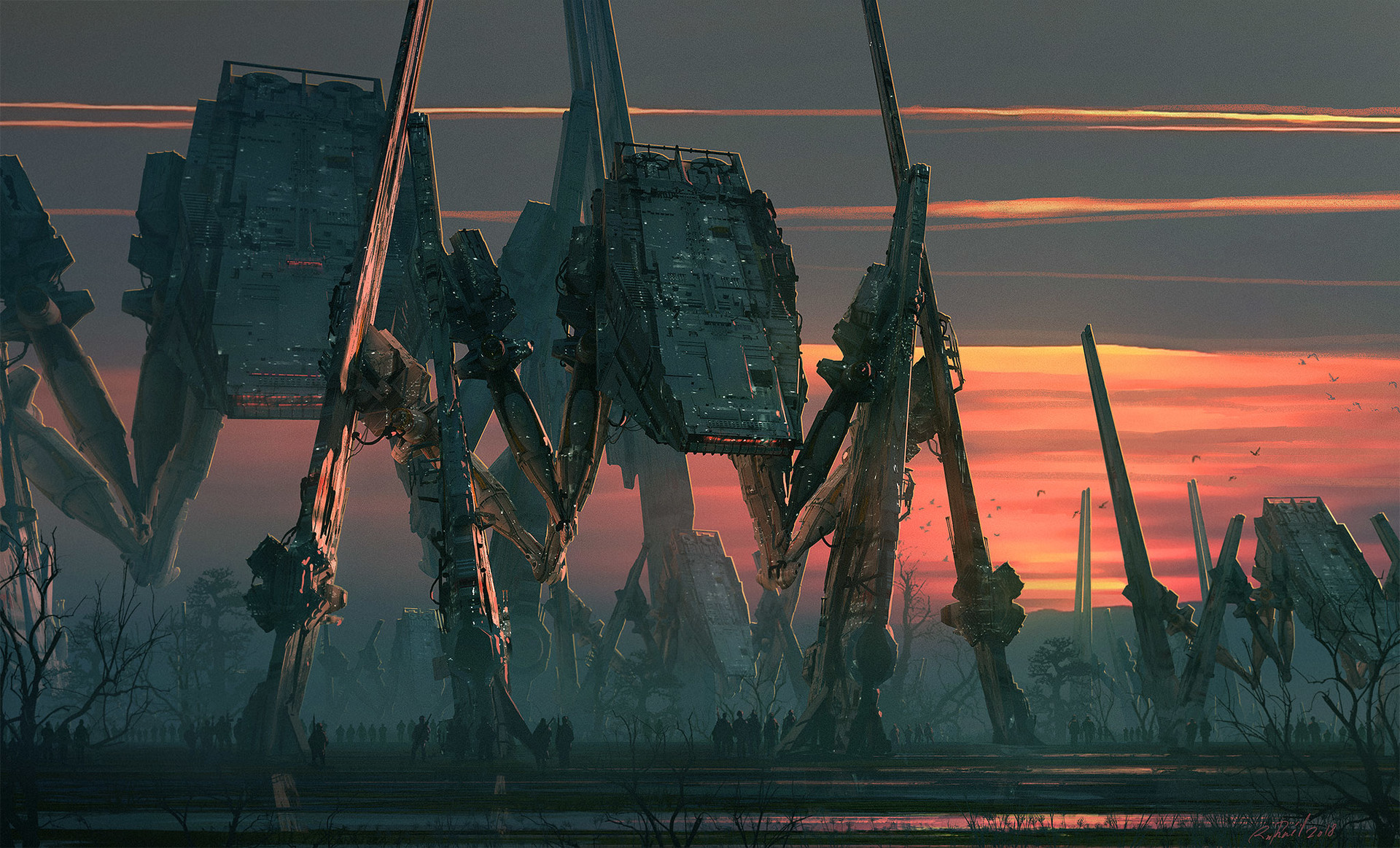 Imperial Spiders AT-ATs