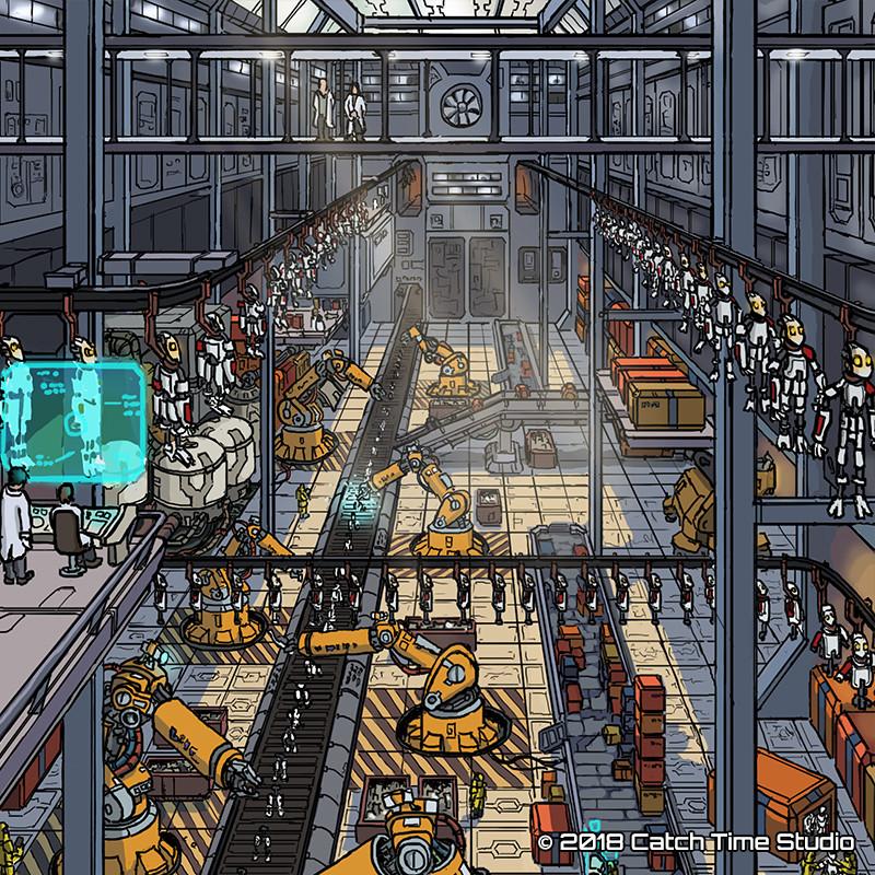 ArtStation - Robot Factory, Tim van Geel