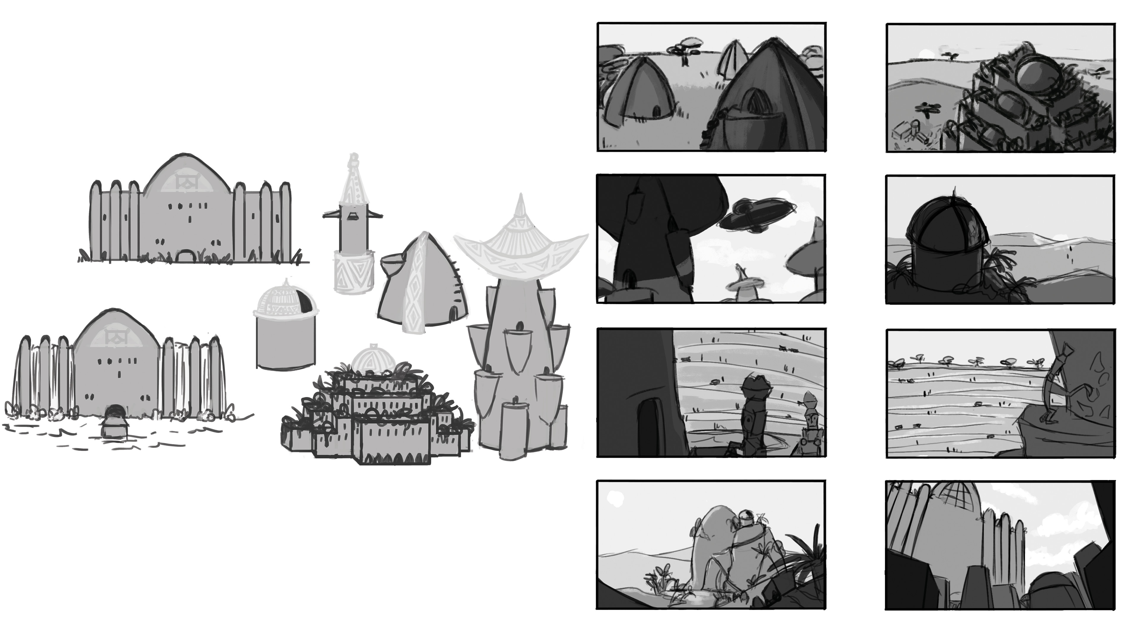 Tumbnails and Buildings concept