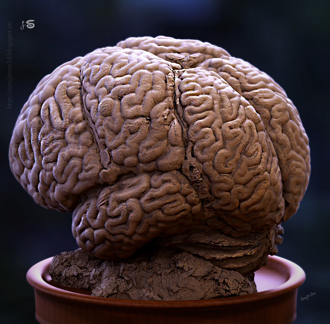 """"""" The Thinking Machine """" - my recent concept sculpt. Its dedicated to me. Wish to share."""
