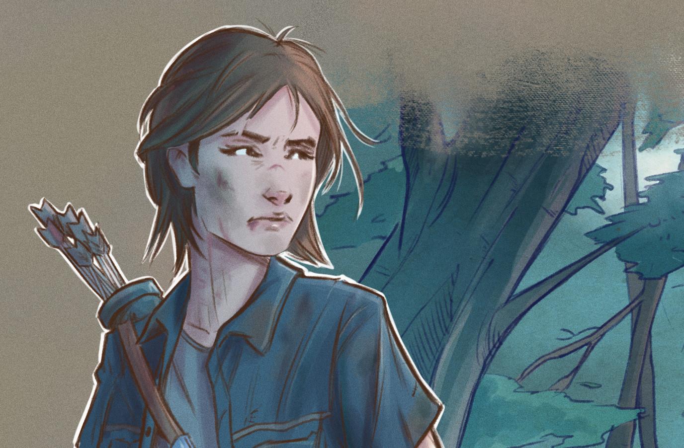 Mihai Rotari The Last Of Us Part 2 Ellie Fanart