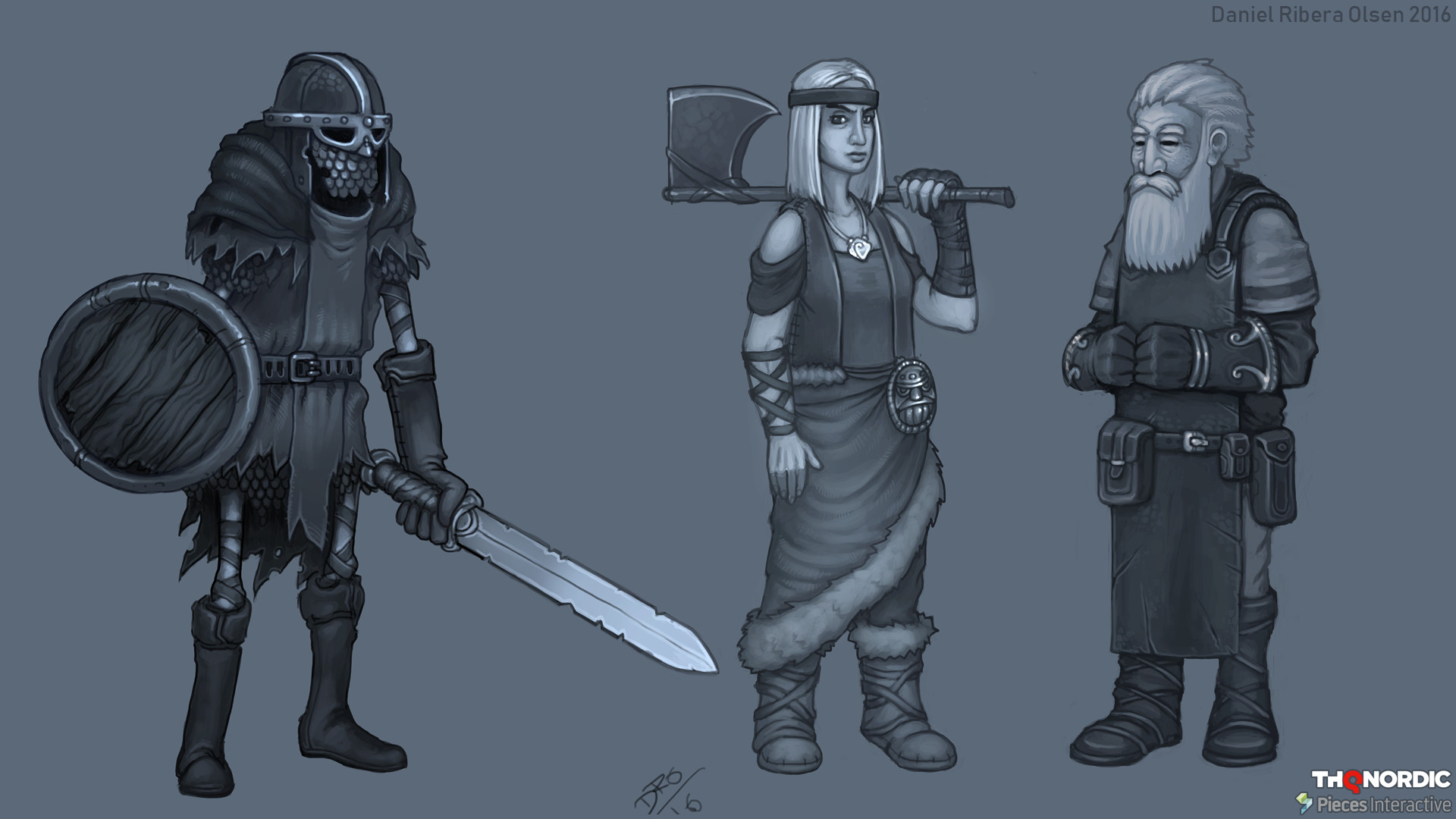 """These are mood-images to get a feel for the creatures/NPCs in """"Ragnarök"""""""