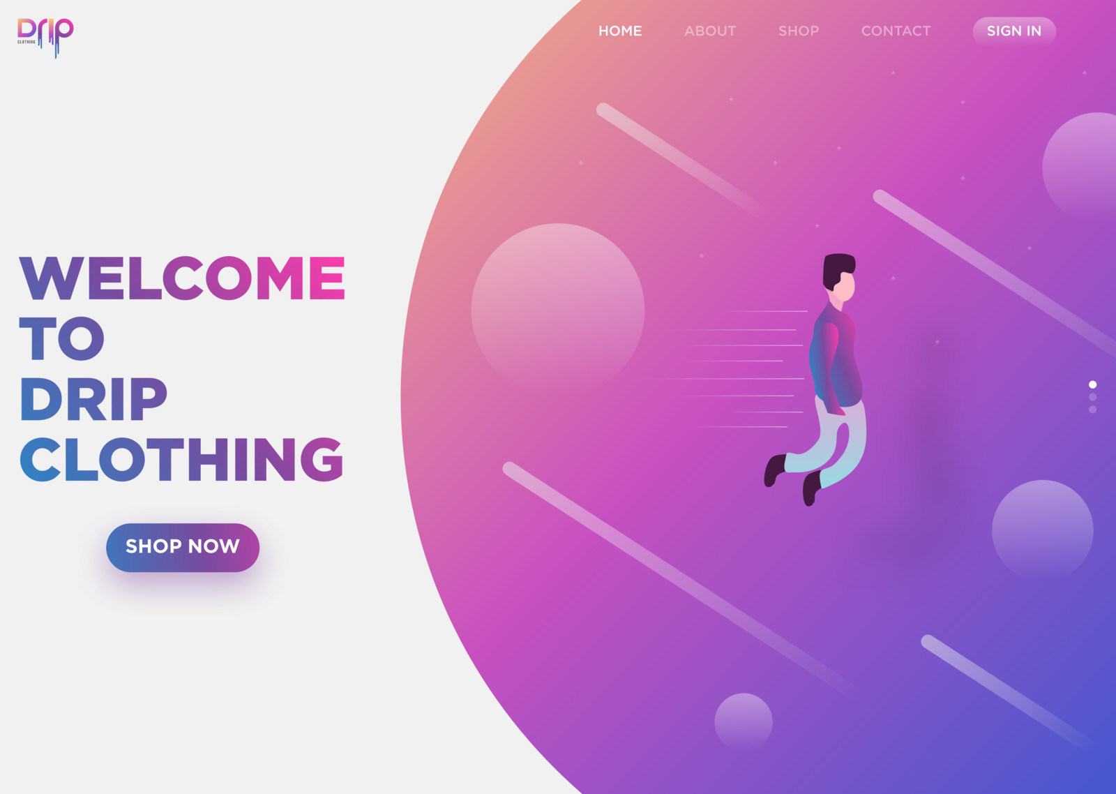 DRIP Clothing | Web Design