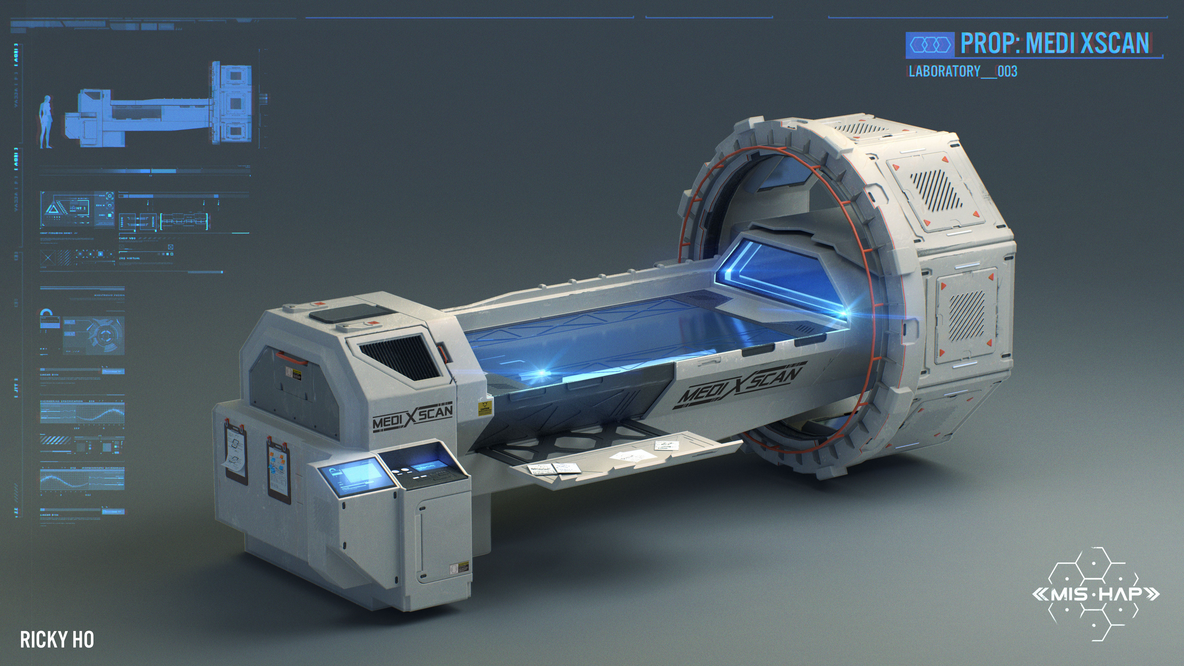 The Medi XScan is an all purpose body scanner. Used by both human and alien specimen.