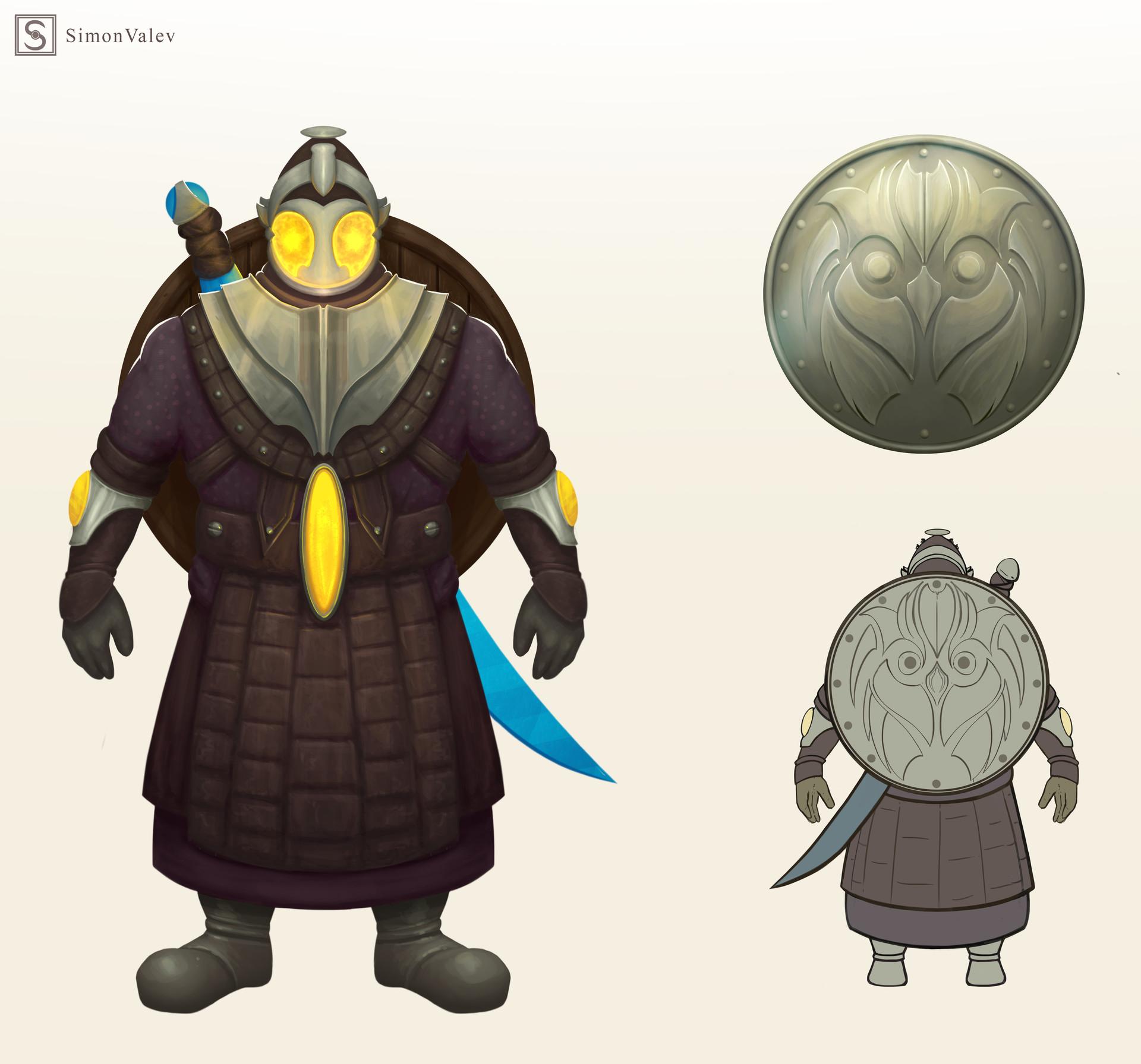 Simon valev character concept