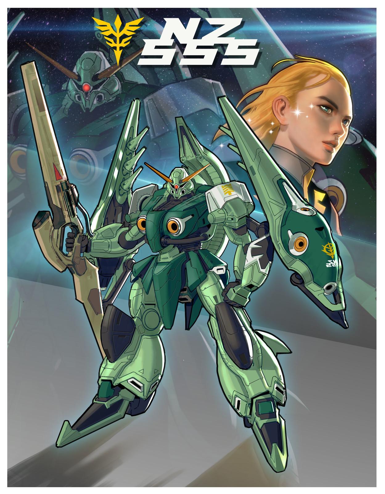 NZ - 555 Orchid  (Gundam Fan Design)