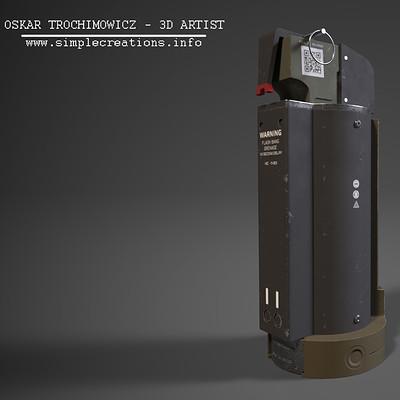 Futuristic Flash Bang Grenade