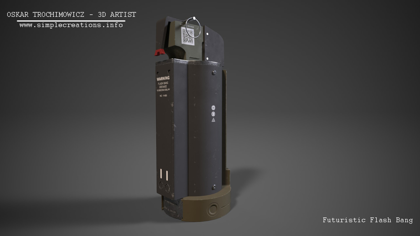 Futuristic Flash Bang Grenade