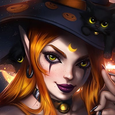 Ayya sap witch and kittens by ayyasap dbqsqs2