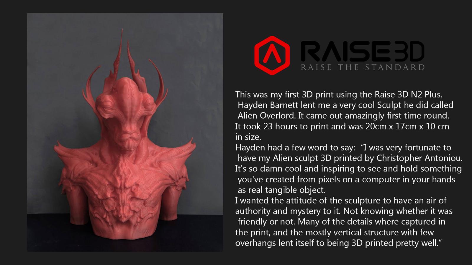 Hayden's Alien 3D Print