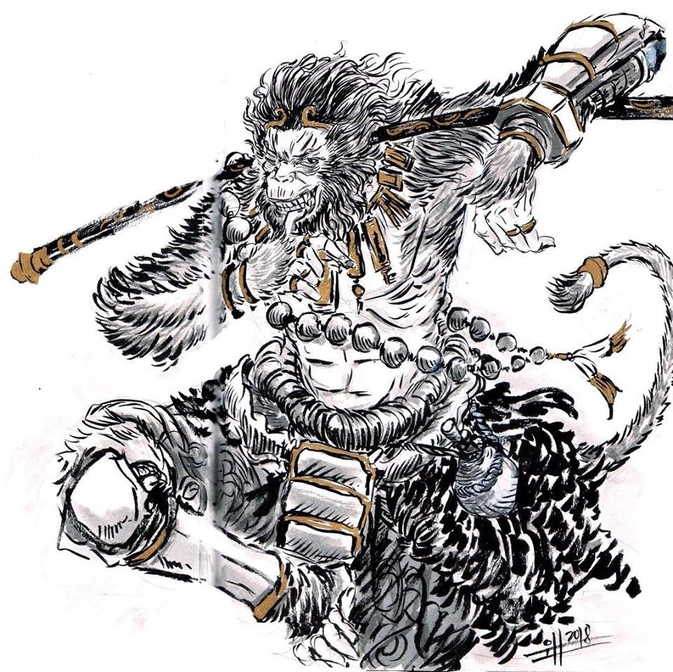 Wukong, the monkey king full