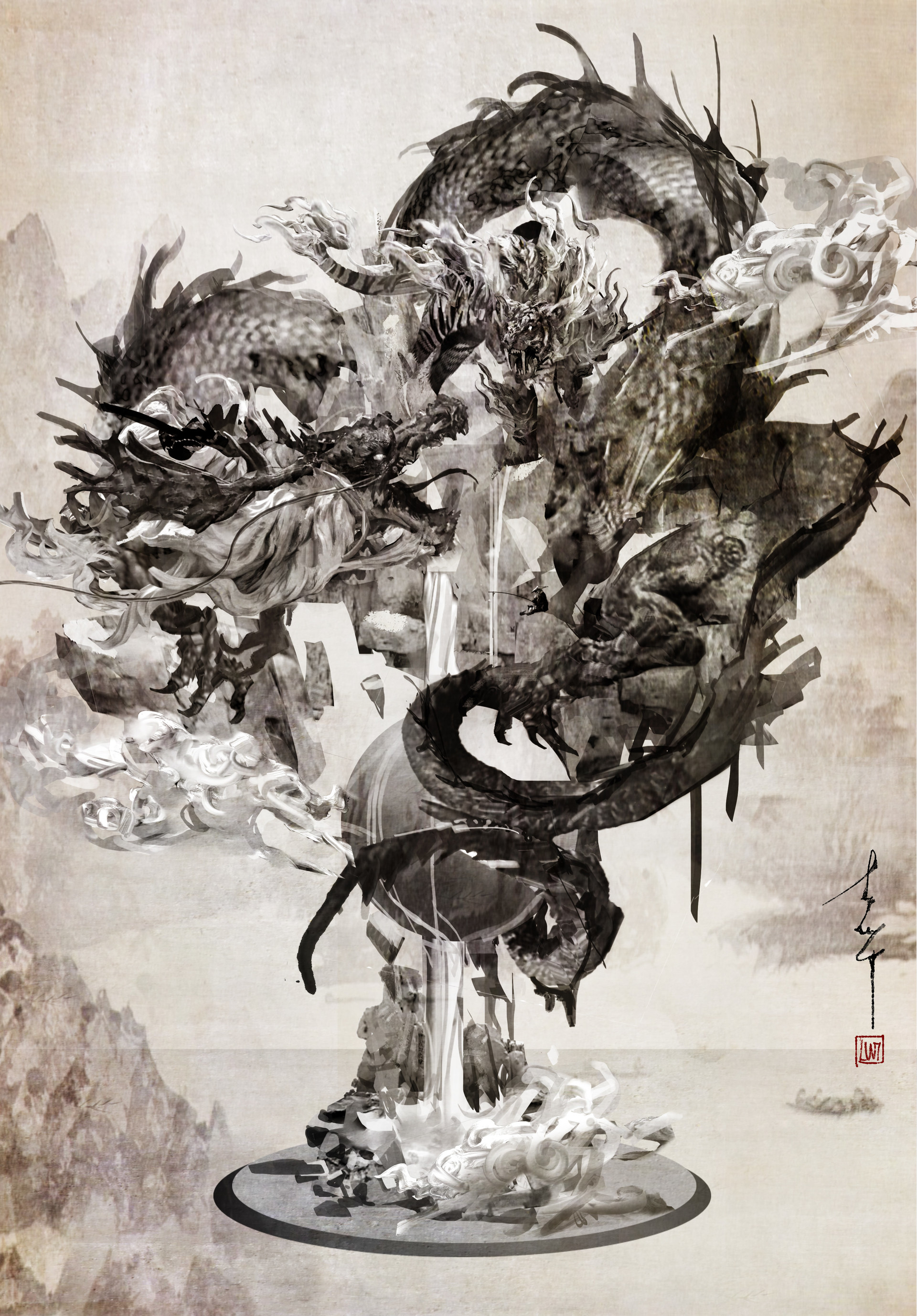 ArtStation - The Song Of Tiger and Dragon, Entei Ryu