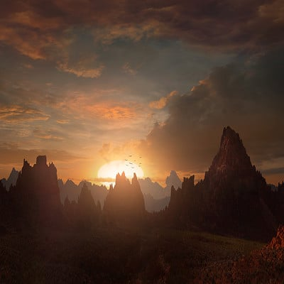 Scott richard fantasy sunset by scott richard