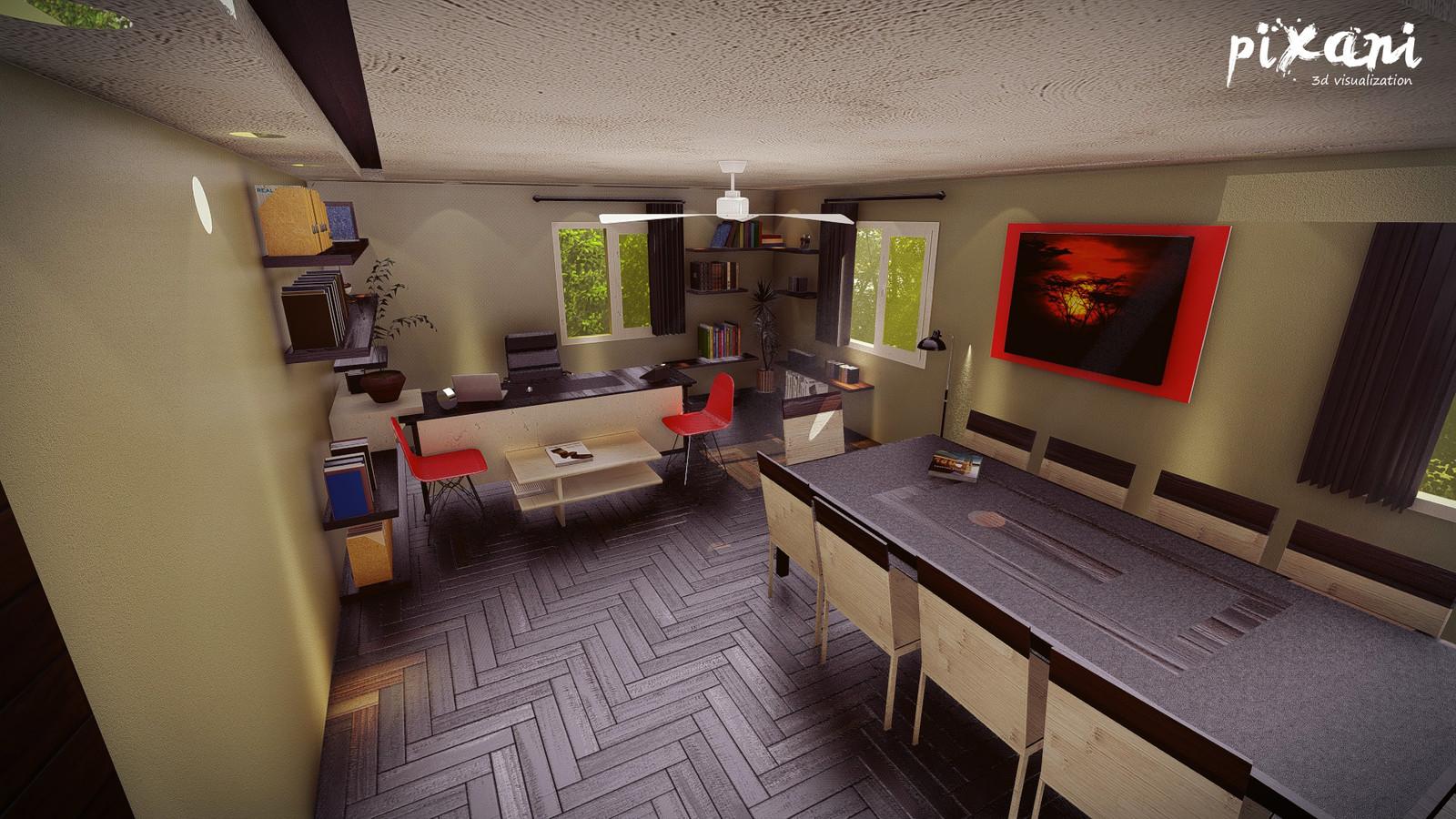 Sariogullari Office Design  design + 3D modeling + render + animation