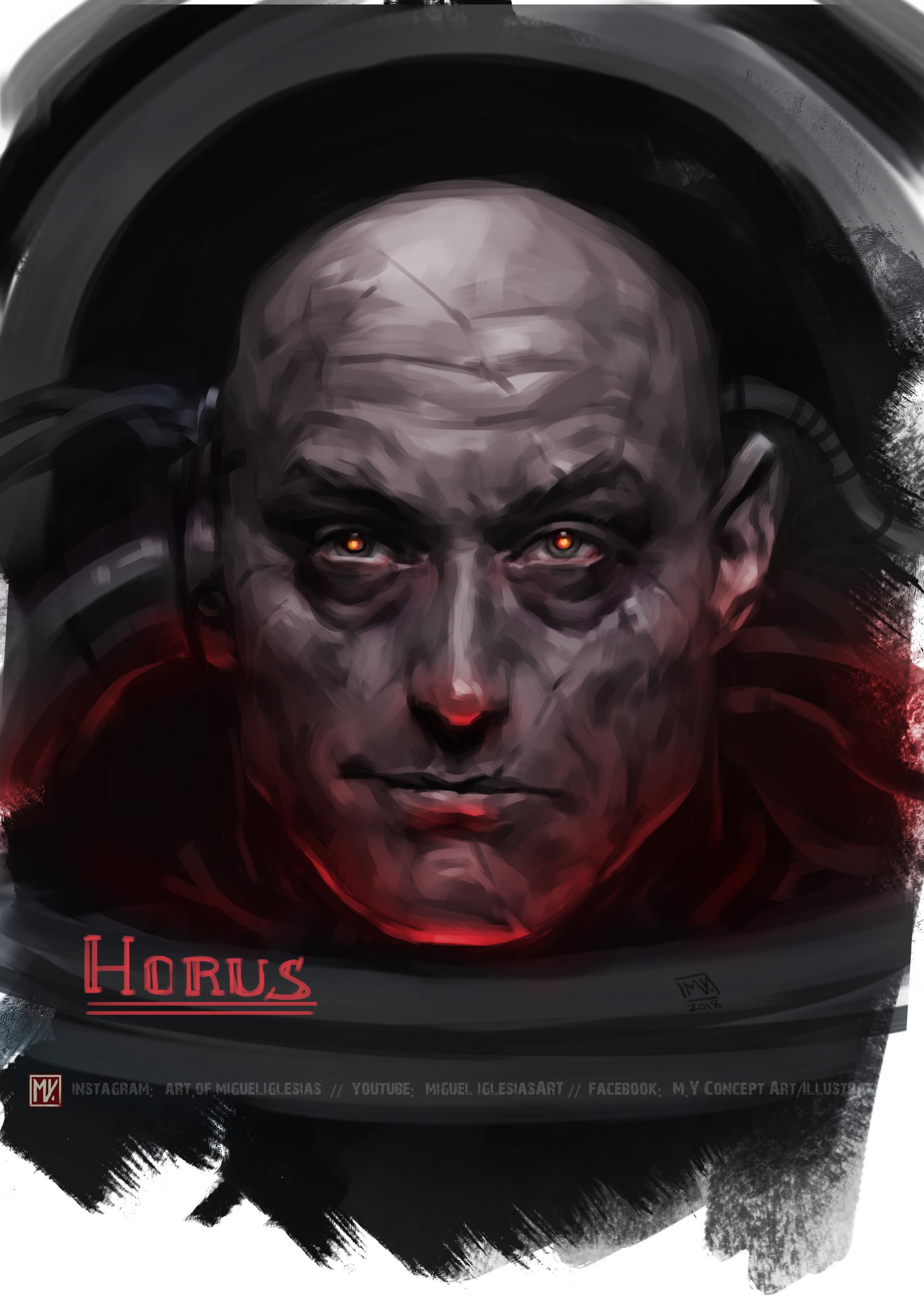 Miguel iglesias horus2 portrait colored artstation