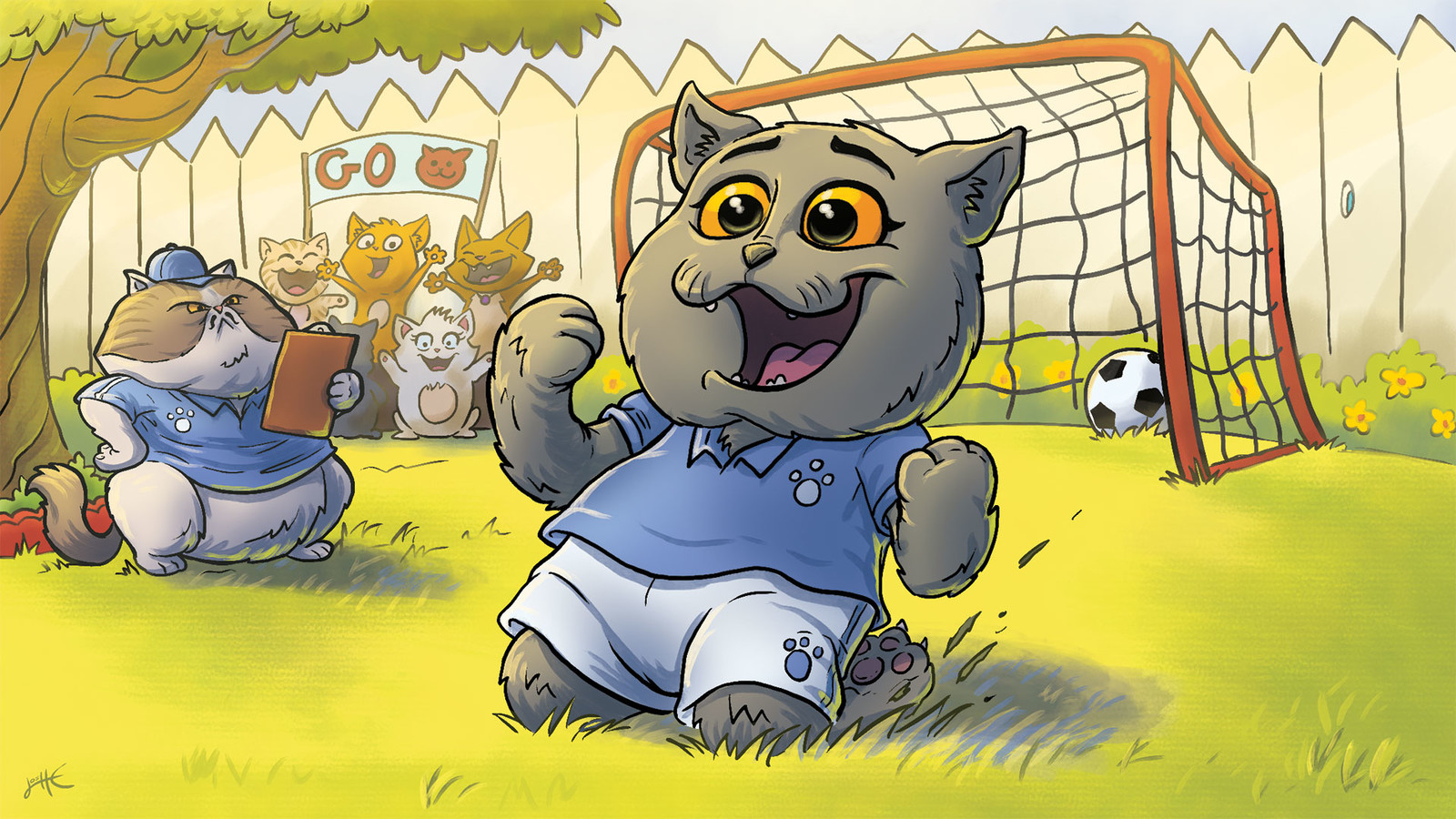 Fun drawing for Aaron's Animals' soccer themed video.