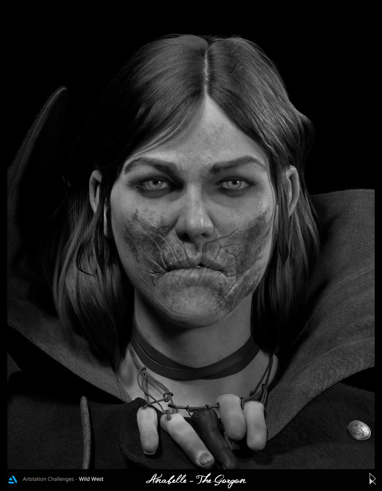 Rodrigo avila face portrait bw