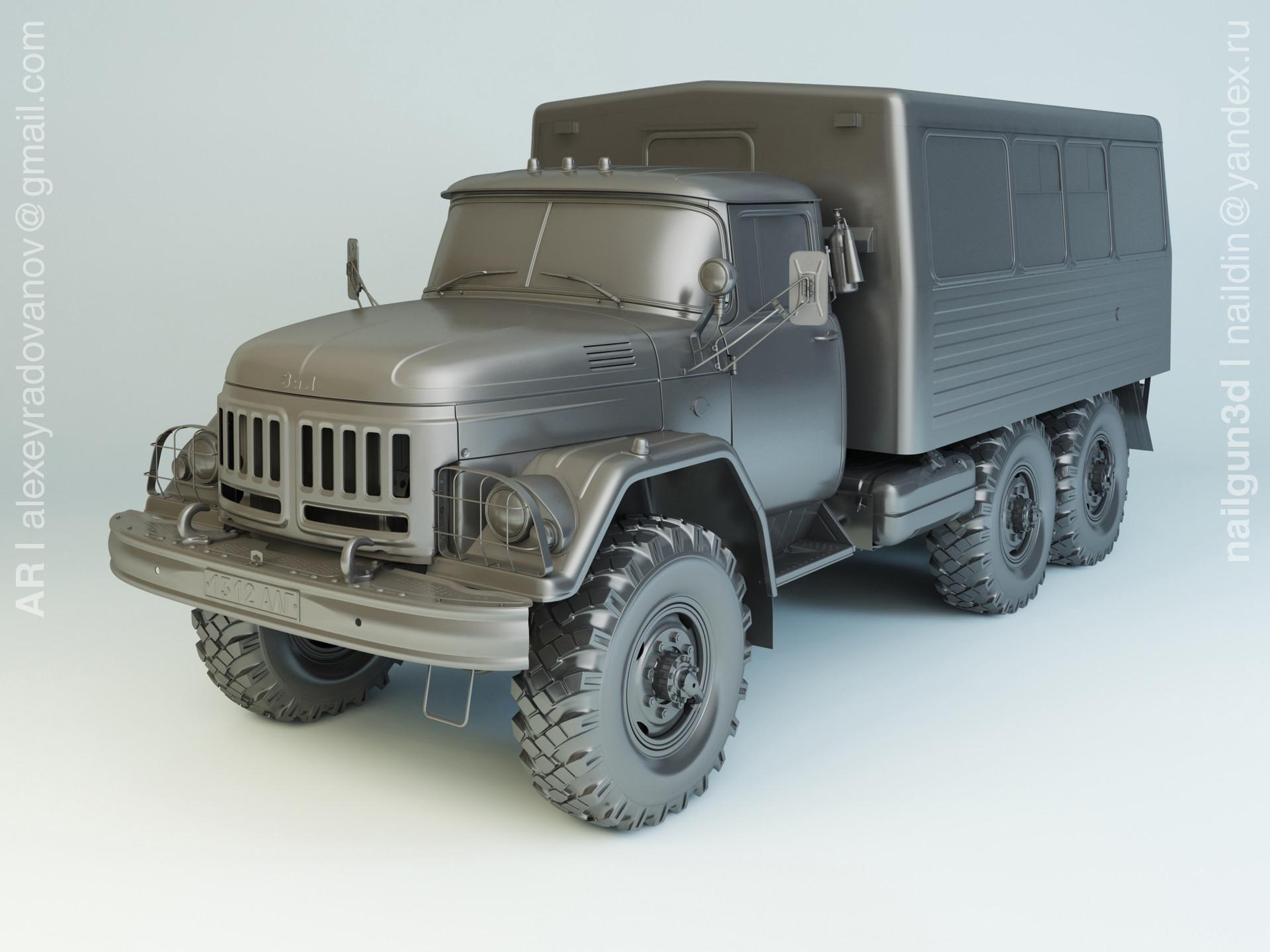 Nail khusnutdinov alg 027 001 zil 131 vachta modelling 0