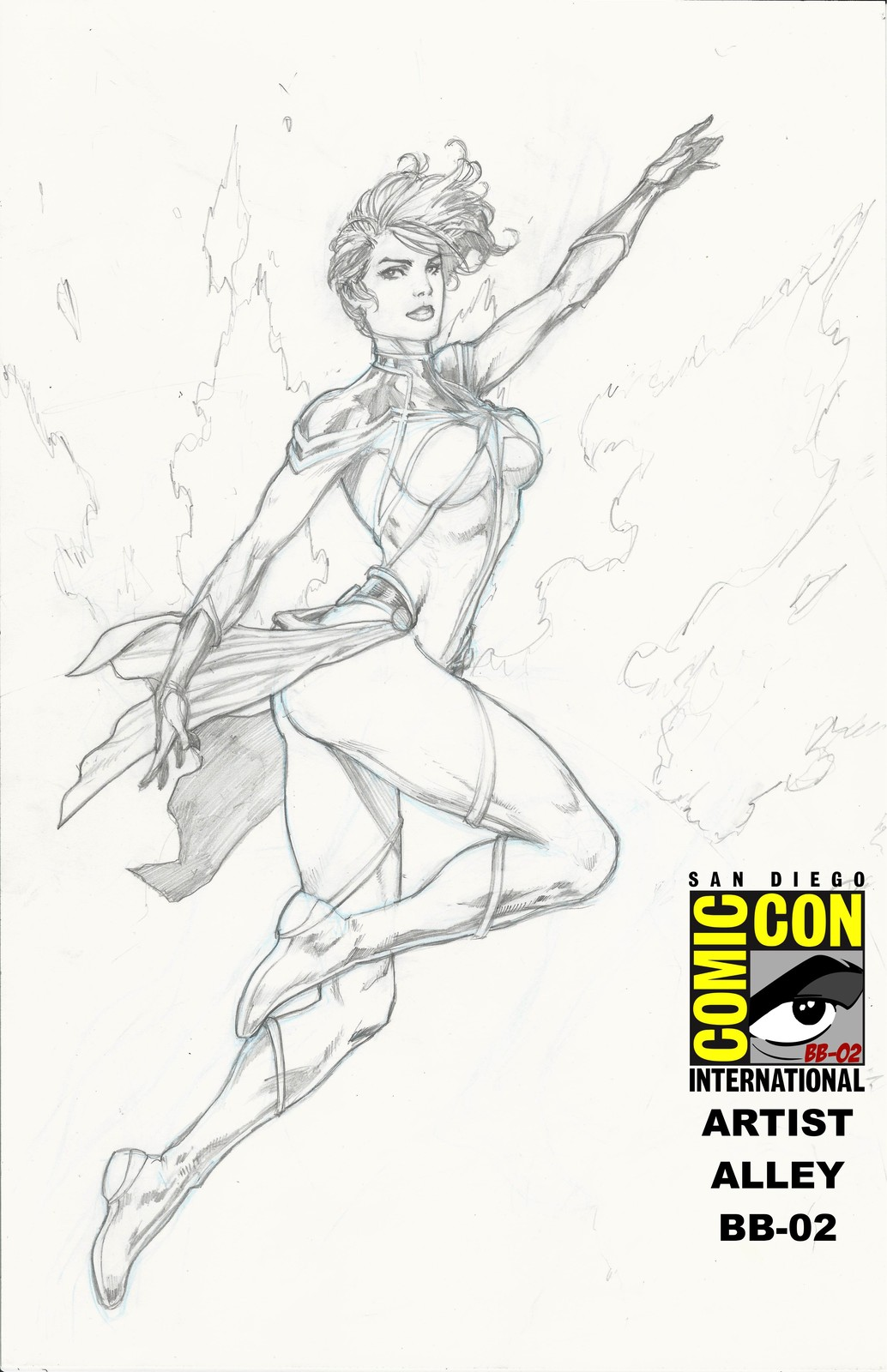 Carol Danvers in pencils. Inks coming soon. A San Diego Comic Con commission. Come by the artist alley BB - 02. Hope to see you there.