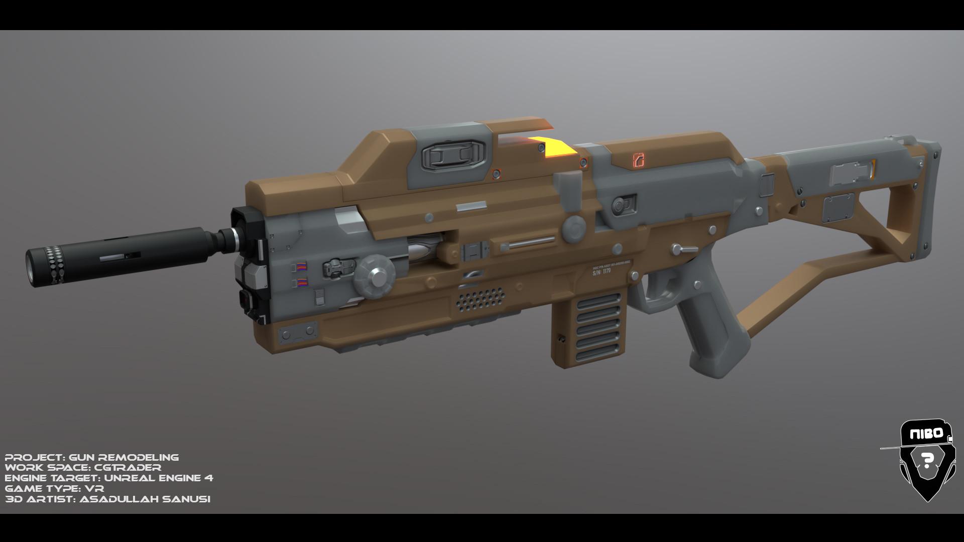 ArtStation - Sci Fi Gun Remodelling for a FPS VR Game, Asad