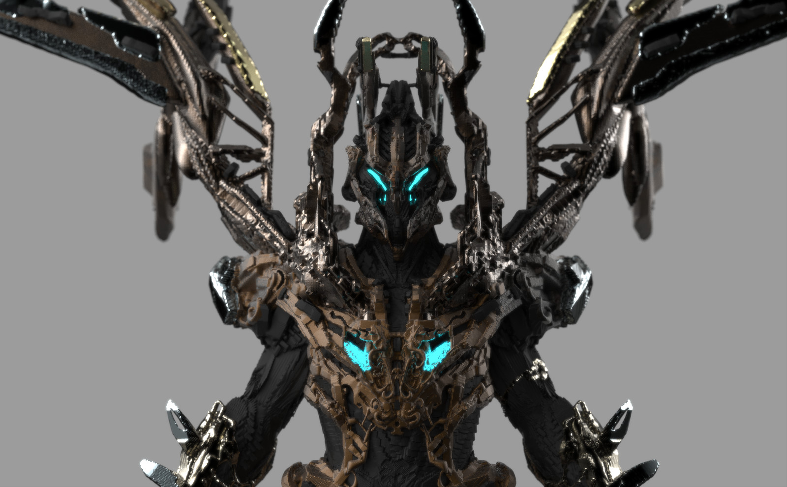 Mech Greek Warrior 3D Coat concept