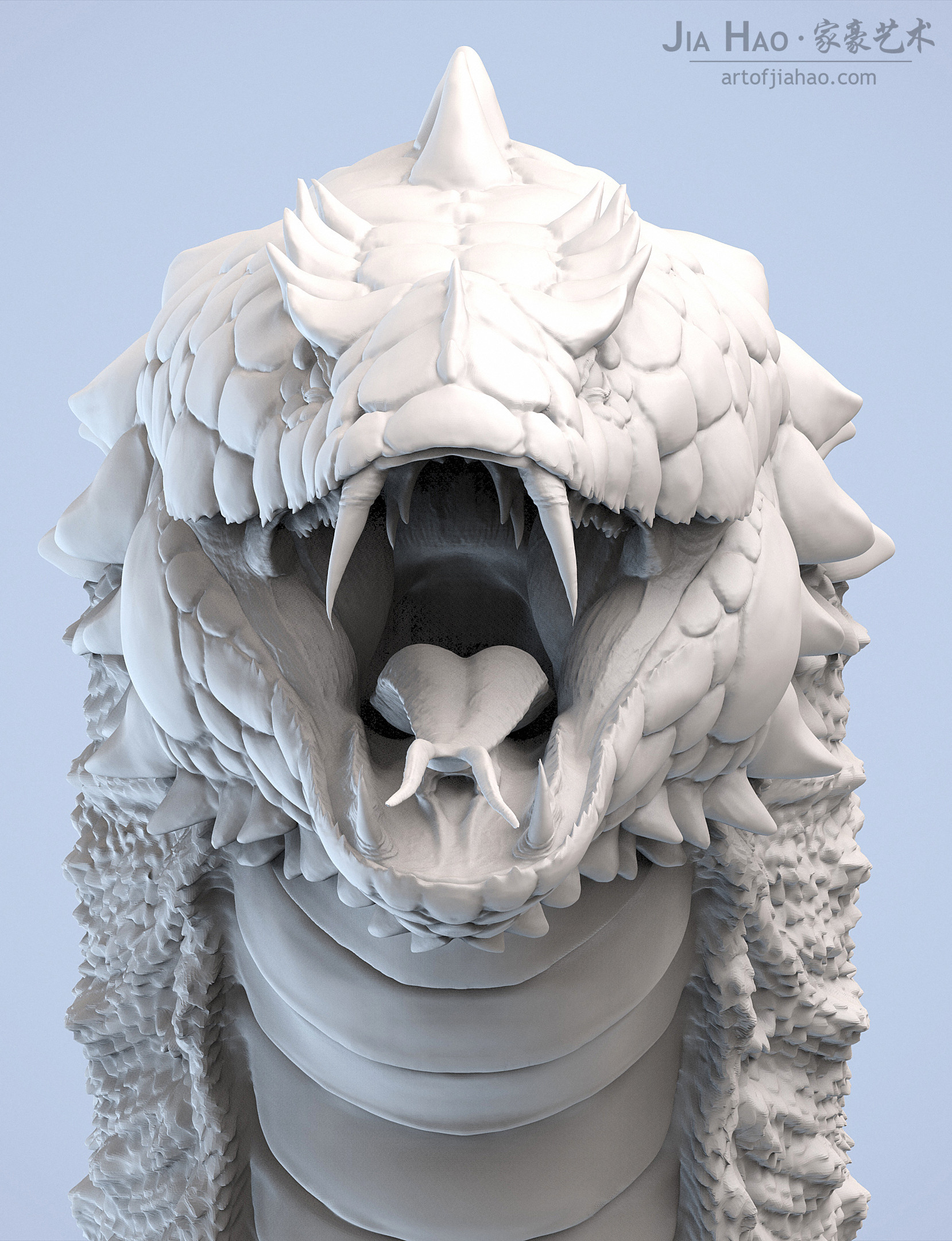 Jia hao 2018 basilisk digitalsculpting 02