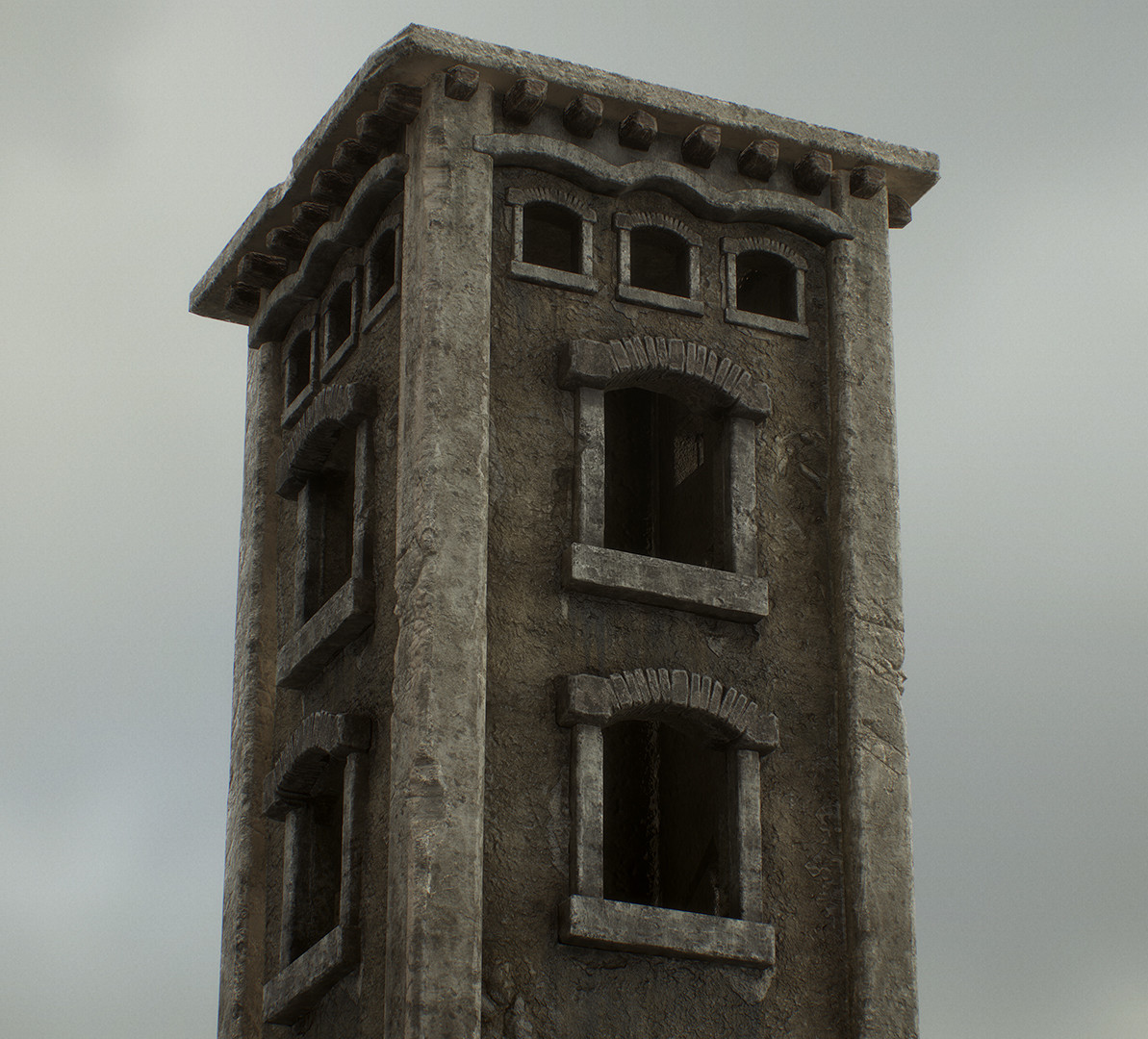 The Watch Tower, Textured in Substance Painter.