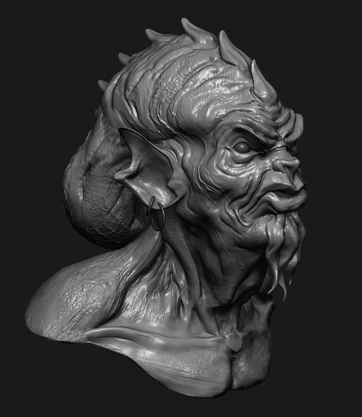 Modeled in ZBRUSH in two hours