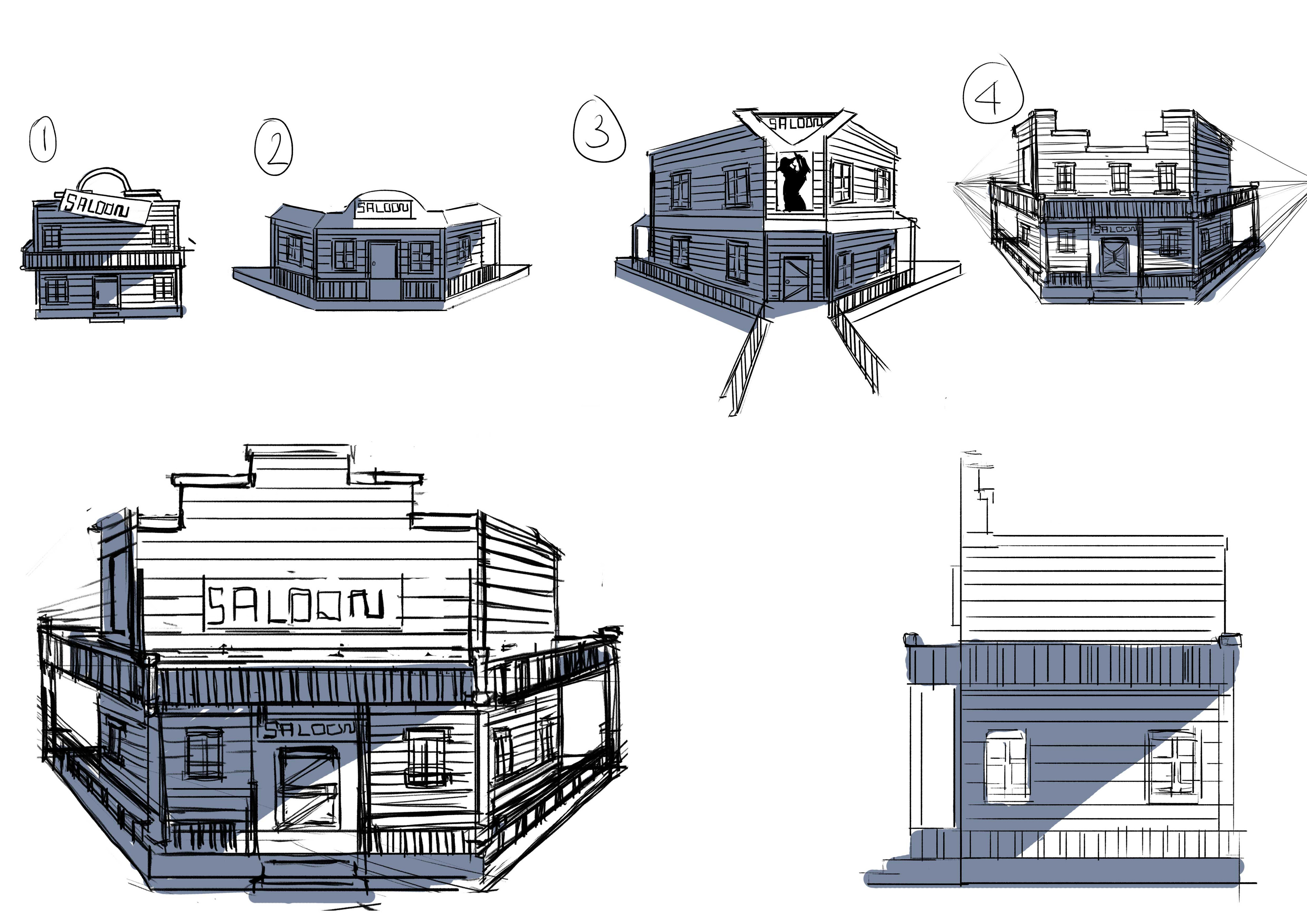 Saloon Iteration Sketches