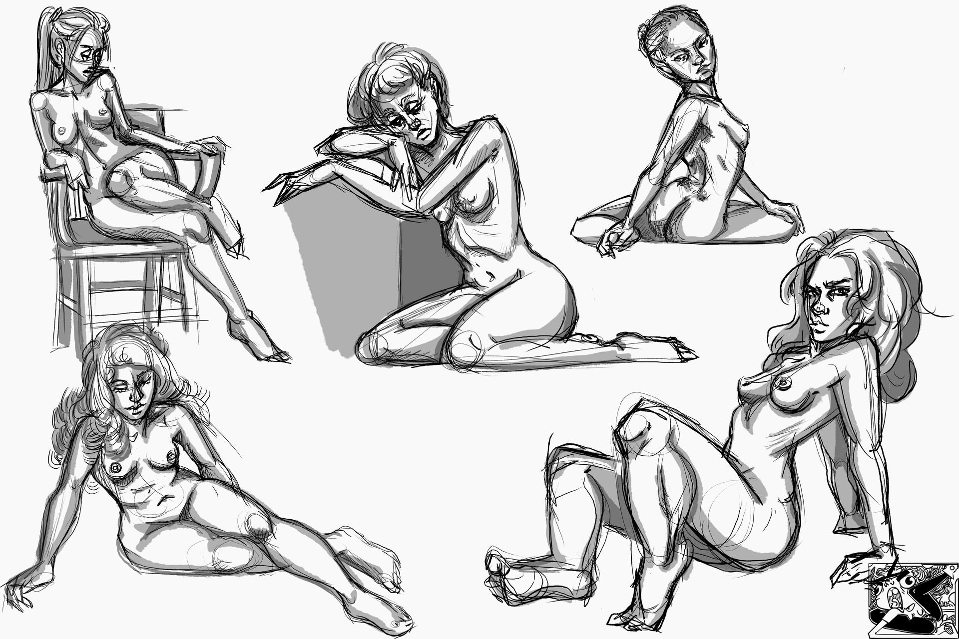 ArtStation - Anatomy Studies/Figure Drawings (WIP), Araceli Taranto